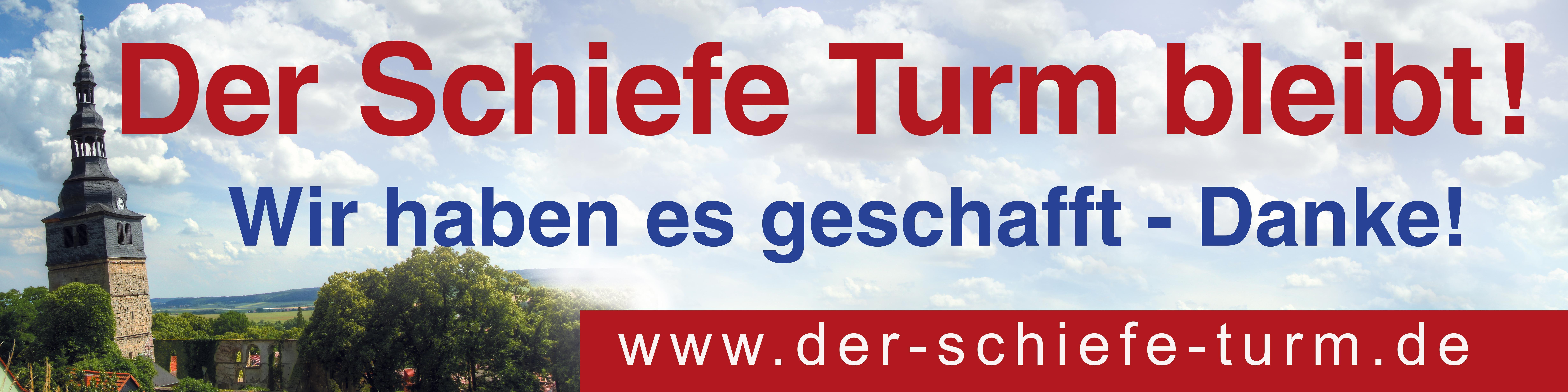 Der Schiefe Turm von Bad Frankenhausen ist gerettet